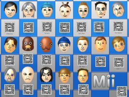 3DS Miis With QR Codes by raccoon-ninja