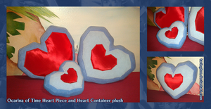 OOT Heart piece - Heart Container plush by tavington