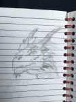 Dragon Pencil Drawing by manney800
