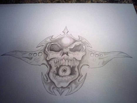 skull with an Eye by Wallace21