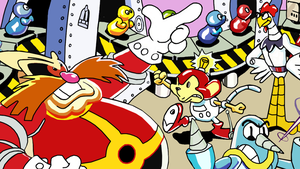 Dr. Robotnik's Mean Bean Machine Cover (Re-Drawn) by JuCstin
