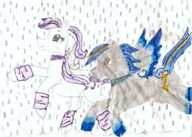 Rain in the city by StarLilly08