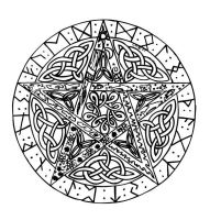 Celtic Pentagram II by BaisteachCeilteach