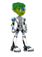Cyborg The Cyber Beast Boy by BeastGreen
