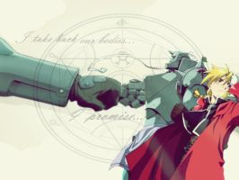 Elric Brothers wallpaper. by XSoul-ArtistX