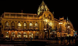 Prag - Obecni Dum at Night by pingallery