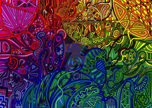 Psychedelic Abstract 293 by CHoare