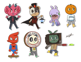 Costume Stickers by weuxj