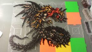 Final Fantasy VI Advance - Kaiser Dragon perler by mecharichter