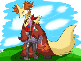 Outphoxed [Shiny Braixen Rubber TF] by Auroracuno