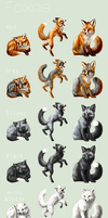Adopt -Foxes- by elen89