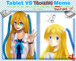 Tablet Vs Touchpad by SakuRaraChan