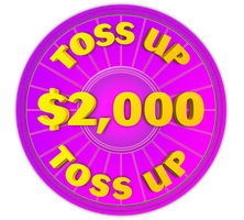 Wheel of Fortune - $2,000 Toss Up Icon by darellnonis
