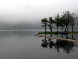 Lake in the morning fog I by gorigami