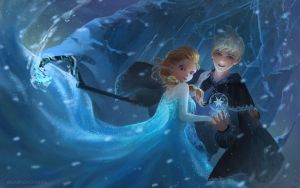 Elsa and jack by tinyyang