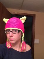 Bright cat hat by asexualgoddess