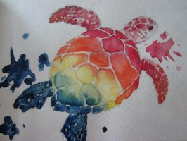 Rainbow Sea Turtle by Denniah
