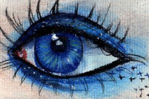 Eye Drawing Blue by Lucky978