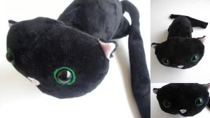Black Cat Plushie by Lyseebell