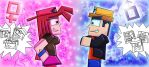 Minecraft Valentines: Battle of the Sexes? by playingames6