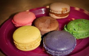 Colourful Macarons by ohno107