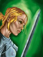 Female, Elven Knight by wraith2099