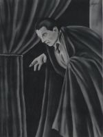 Bela Lugosi as Dracula in pastel by Dracfan95