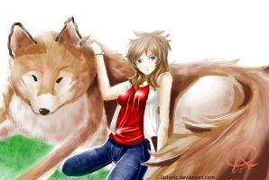 Contest: Cassy and the wolf by Qsholic
