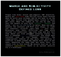 Marge And Subjectivity Defined Loss by liyaperfidious