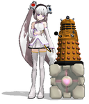 Glados and a Dalek by Aya---Drevis