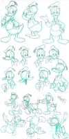 Donald Duck Studies by madmaxsol
