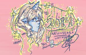 Happy New Year's 2014! by AwesomeBluePanda