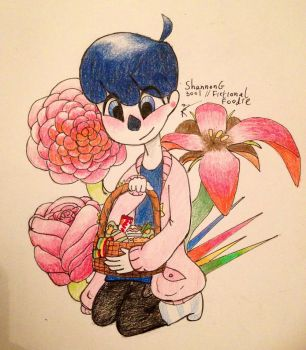 Winston Graves with sweets and flowers on Easter by ShannonG3001