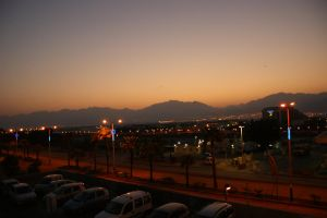 Eilat at nightfall by picture-melanie