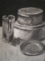 Charcoal Still Life by peanutbuttahhh