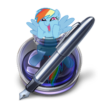 pages icon - rainbow dash by spikeslashrarity