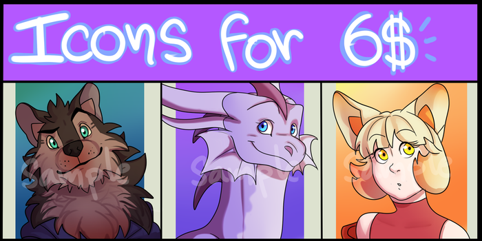 OPEN ICONS FOR 6$ -PAYPAL ONLY- by DendouguiDragonPowah