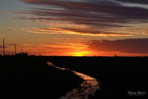 Sunset over the Creek by AppareilPhotoGarcon