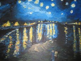 Starry Night over the Rhone by SecretAffections