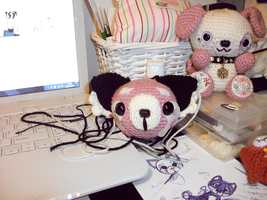 red panda amigurumi - work in progress by tiny-tea-party
