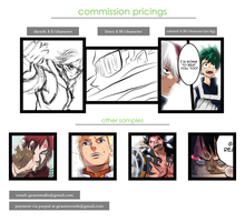 BACK WITH ANIME/MANGA COMMISSIONS (OPEN) by denzel94