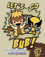 Wolvie and Sabretooth Kawaii by ninjaink