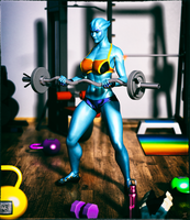 Nesa At The Gym by ExGemini