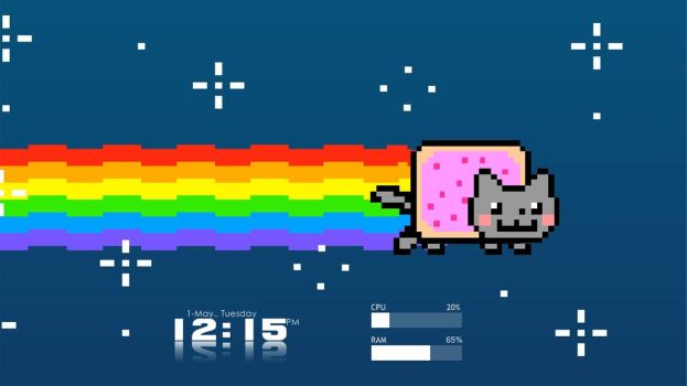 Nyan Cat Rainmeter