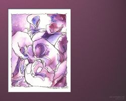 Loose watercolor lillies by doodlediddy
