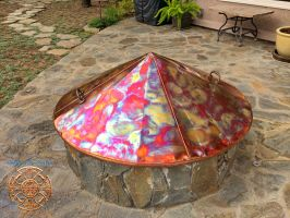 Kittell's Fire Pit Copper Cover 3 by DarrianAshoka