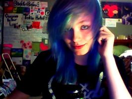 My hairs blue by MayhemMegan