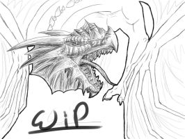 Classic dragon WIP by Denece-the-sylcoe