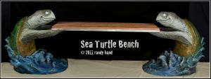 Sea Turtle Bench other shot by RandyHand