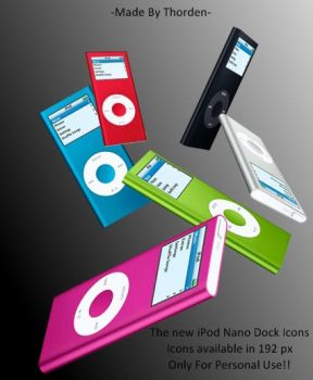 iPod Nano Dock Icons by Thorden